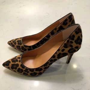 J. Crew Pony Hair Pointed Toe Leopard Pump 7.5